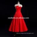 Vestido de boda único rojo sexy satinado vestido de novia vestido de noche ceremonia de boda