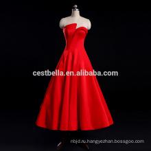 Уникальное свадебное платье Красный сексуальная атласная свадебное платье вечернее платье Свадебные церемонии
