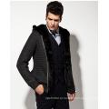 Casaco de lã acrílico com capuz casaco de malha homem