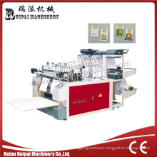 Double Lines Heat Sealing Heat Cutting Plastic Shopping Bag Making Machine