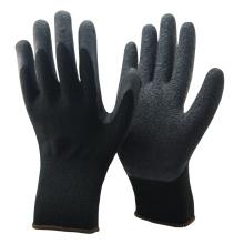 NMSAFETY Gants de sécurité en latex enduit de latex acrylique noir de calibre 10