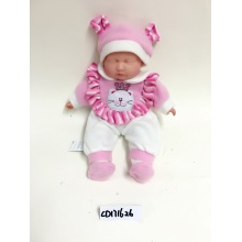 "16"" Close Eyes Pink Baby Vinyl Doll"