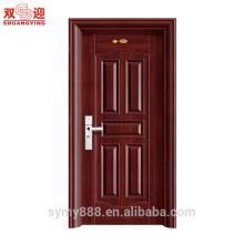 Декоративные стальные межкомнатные двери открываются вовнутрь качания одного дверного полотна с замком безопасности