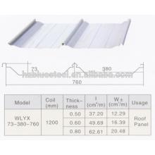 Automatique Bonne qualité PLC Industrial Self Lock Machine à toiture en toit galvanisé à vendre