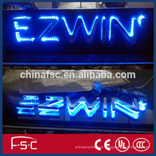 Custom outdoor waterproof anticorrosive any font laser engraved plastic luminous letter