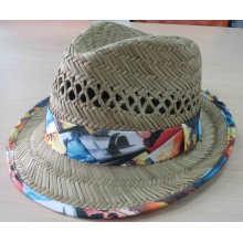 Chapeau d'été de chapeau de paille de fille de mode 2016 (SW-080001)