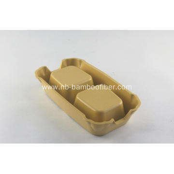Bamboo fiber double diner cat bowl dog bowl