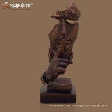 policarbonato de cor de cobre modernizado, resumo da estátua do rosto humano