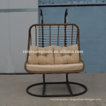 2017 wicker 2-seat hanging chair for balcony