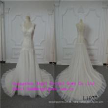 Vestido de boda nupcial del cordón superior sirena