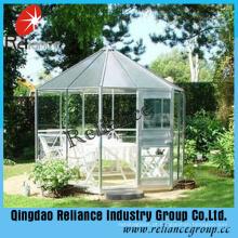 Cristal de 12mm / vidro de flutuador transparente com certificados de Ce / ISO