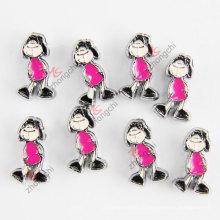 Симпатичные девушки металла слайд шарм моды ювелирные изделия (JP08-662)