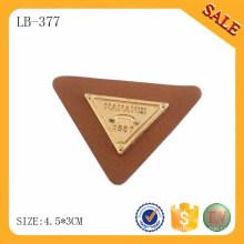 LB377 Logo personnalisé de qualité logo deboss métal cuir coude pour jeans
