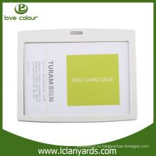 Lovecolour дешевый изготовленный на заказ водоустойчивый пластичный белый держатель карточки