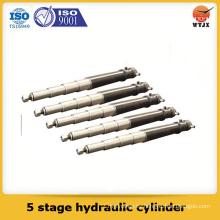 Cilindro hidráulico de varias etapas, cilindro hidráulico de 5 etapas