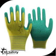 SRSAFETY billig Preis / 13g Polyester Latex beschichtet Allzweck Handschuhe / Hand Handschuhe
