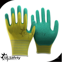SRSAFETY cheap price/13g polyester latex coated all purpose working gloves/hand gloves