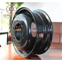Powder spraying black car automobile steel wheel rim 14 inch