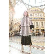 Kvinnor Reversible Cross.Mink Fur Coat