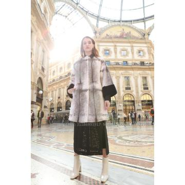 Mujeres Reversible Cross.Mink Fur Coat