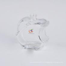 Bouteille de parfum en verre vide en forme de pomme populaire