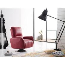 Sofá moderno cadeira de braço giratório com empurrão para trás