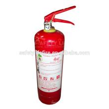 Extintor de incêndio em pó ABC 4kg / DCP extintor de incêndio / abc bc pó químico seco para extintor de incêndio