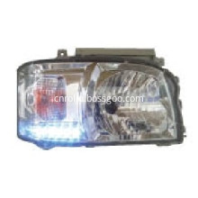 High quality 2005-2010 toyota hiace white LED crystal head lamp car auto parts suplier