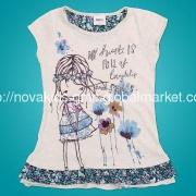 Children wear Baby apparel girl summer cotton tunic t shirt