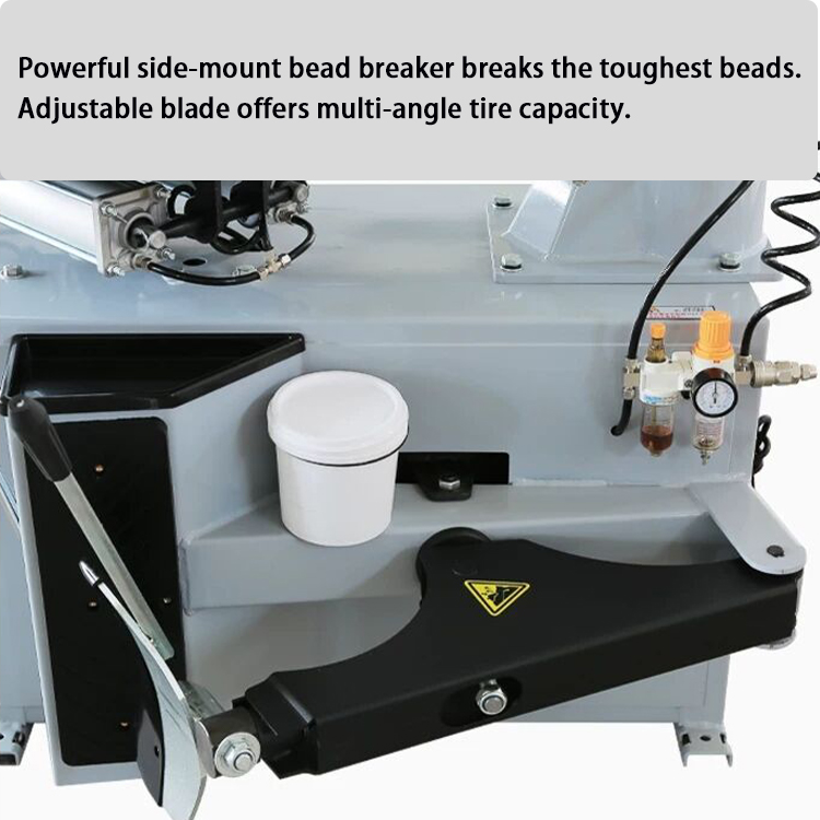 tire changer lubrication bucket