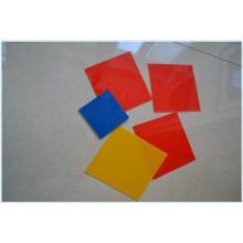 Rojo, amarillo, azul PP / hoja de polipropileno