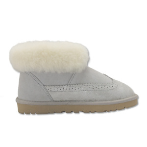 Women indoor winter sheepskin soft warm fur slippers