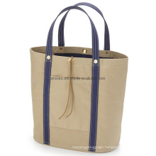 Large Size High Quality Girls Autumn Canvas Lining Denim Shopping Handsome Fashion Tote Bags with Zipper Custom Printed Logo