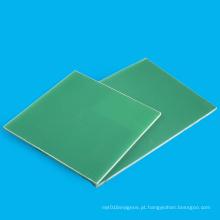 Painel epóxi laminado da fibra de vidro verde FR4