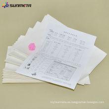 Sublimación transferencia china papel A4