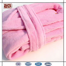 Super Soft Coral Fleece Fabric Cotton Colorful Hotel Terry Cloth Bathrobe