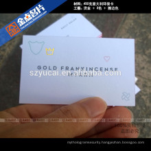 Eco-friendly offset printing luxury fashion business cards thick
