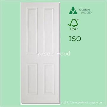 Porte en bois blanche artisanale blanche