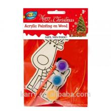 Kits de pintura de madera, kits de bricolaje para niños, kits de pintura de navidad