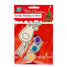 Kits de pintura de madeira, kits de crianças DIY, kits de pintura de Natal