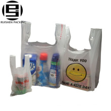 Sacs réutilisables de gilet de t-shirt pliable de hdpe recyclé