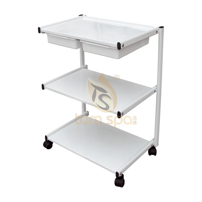 Salon Rolling Trolley Shelves