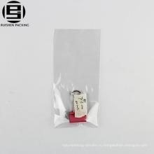 Оптовая продажа прозрачных полиэтиленовых пакетов для упаковки брелков для переработки