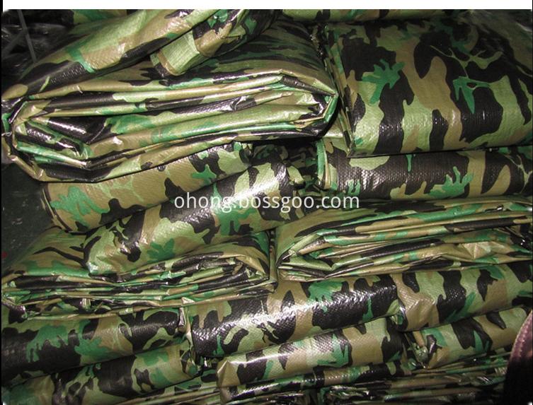 Low price PE tarpaulin Camouflage