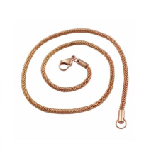 Hochwertiger Edelstahl 4Mm Gold Blumenkorb Kette Halskette