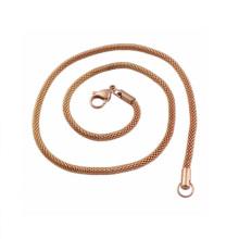 Высококачественной нержавеющей стали 4mm Золотой цветок Корзина ожерелье цепь