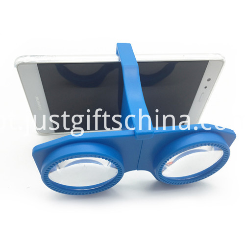 Promotional Foldable 3d Vr Glasses Blue Color
