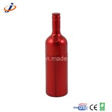 Botellas de plástico rojo botella USB unidades (JP314)