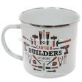Оптовая изготовленный на заказ Логос печатая чашки эмалированной стали,изготовленные на заказ эмалированная кружка оптом