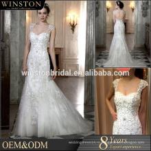 Лучшее качество мода женщины Аква-синий свадебные платья